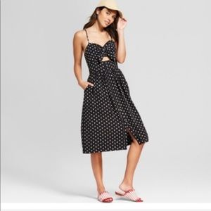 Xhilaration target polkadot midi dress
